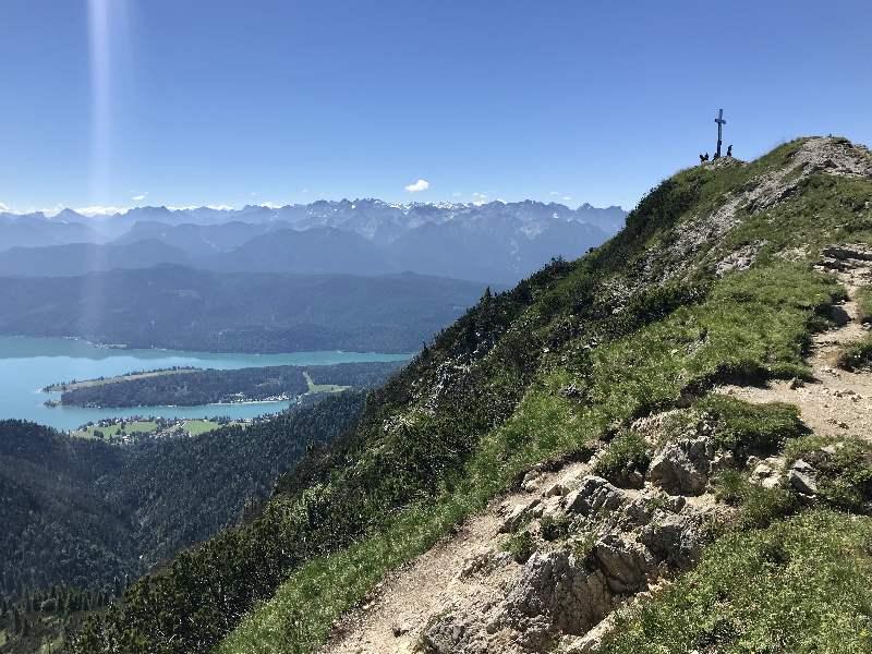 Der Heimgarten am Walchensee - einer der bekanntesten Walchensee Berge, mit dem Karwendel