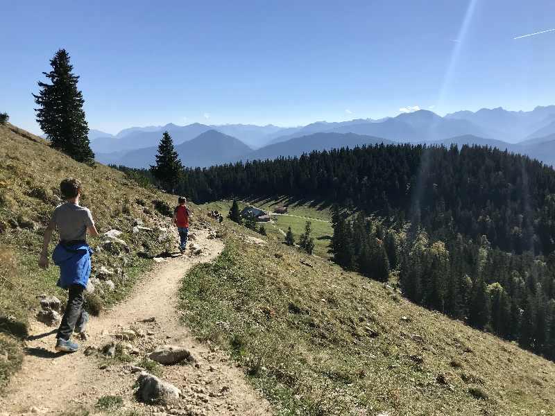 Jochberg Walchensee - die Jochberg Wanderung Richtung Jocher Alm