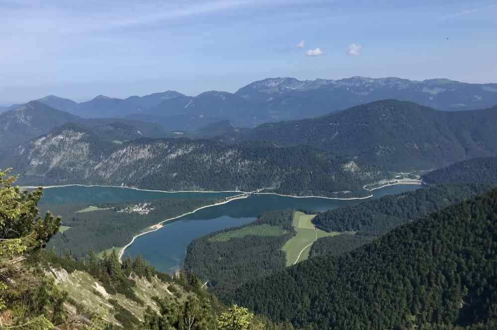 Sylvenstein See in Bayern - wie ein Fjord im Karwendel