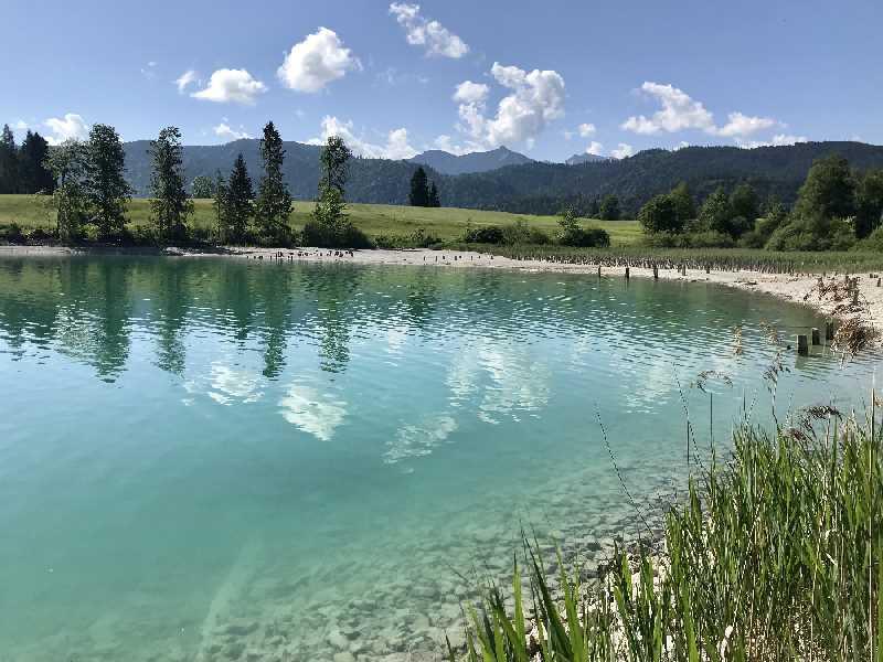 Die Bucht in Zwergern, schön zum Walchensee baden