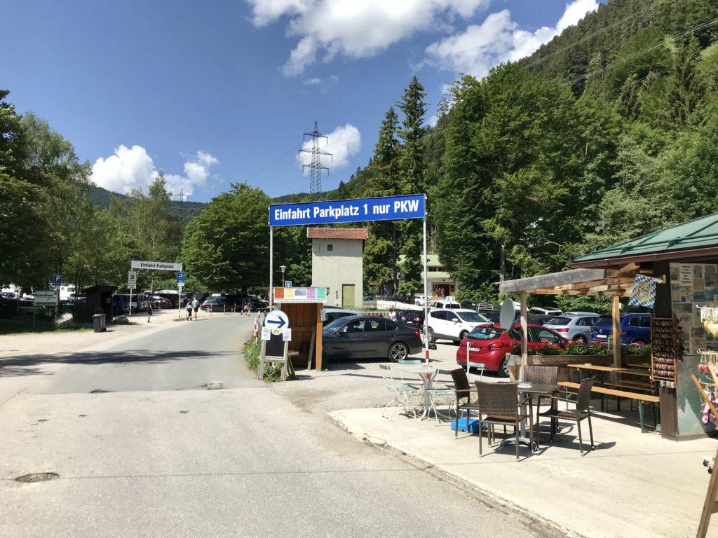 Herzogstand Parkplatz in Walchensee