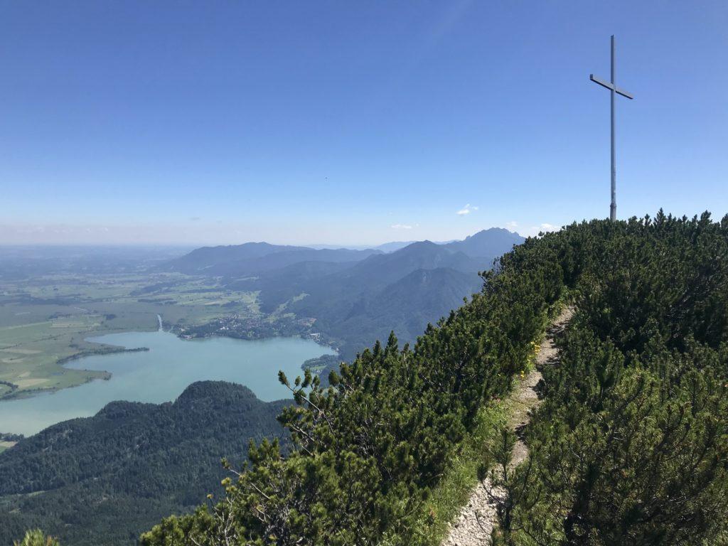Bergtouren Walchensee - hier mit Blick auf den Kochelsee